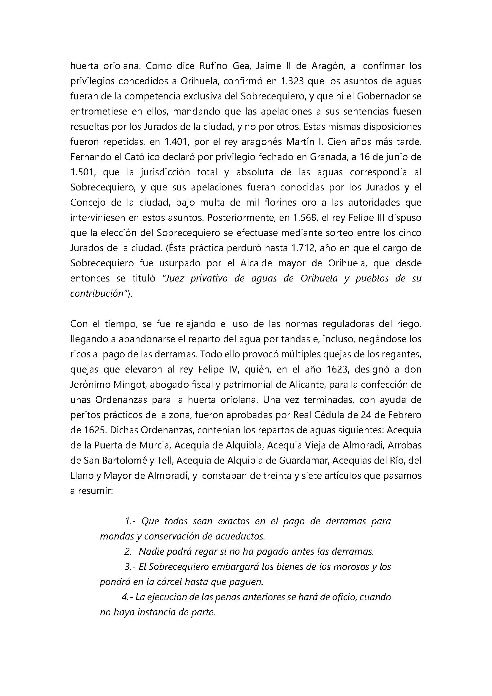 Breve noticia histórica sobre la normativa reguladora del regadío en el Juzgado de Aguas de Orihuela_Página_4