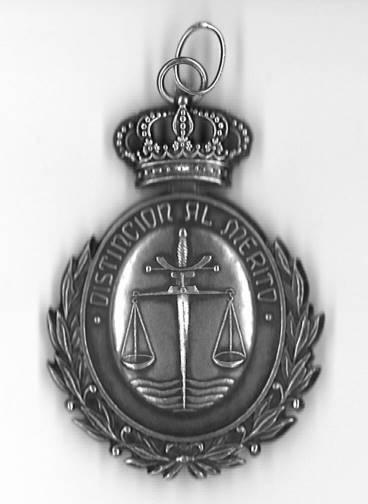 Medalla Plata Juzgado reverso