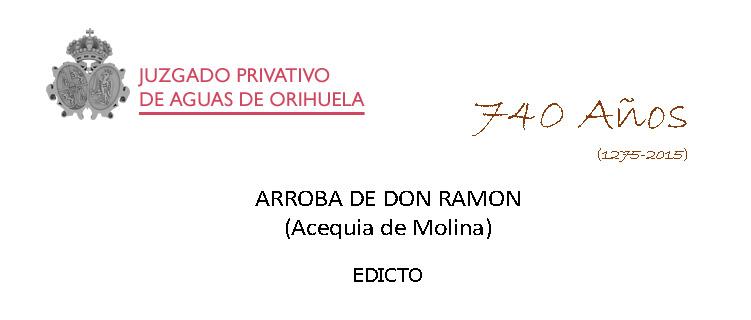 EDICTO Arr D. Ramón