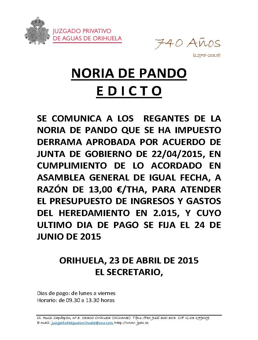 NORIA DE PANDO DERRAMA