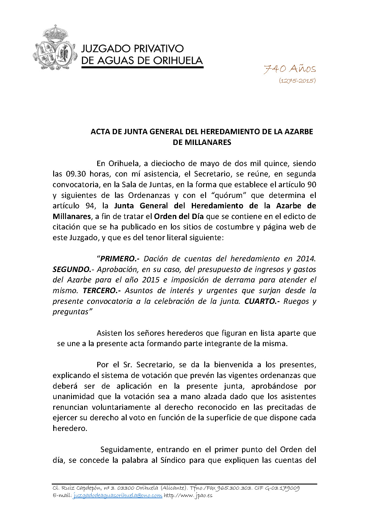 58 2015 AZARBE DE MILLANARES  ACTA ASAMBLEA GENERAL 18052015_Página_1