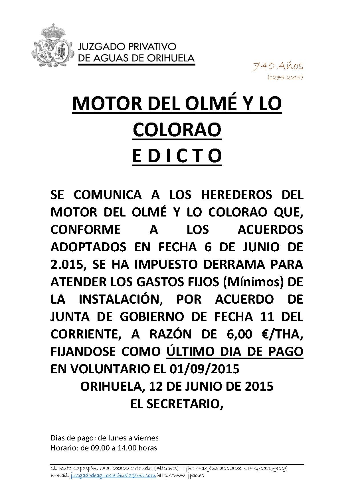 81 2015 MOTOR DEL OLME Y COLORAO  EDICTO IMPOSICION DERRAMA (3)