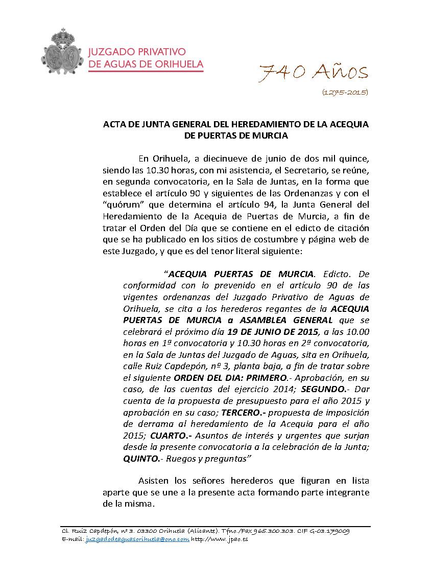 85 2015 ACEQUIA PUERTAS DE MUCIA  ACTA JUNTA GENERAL DE FECHA 19062015_Página_1