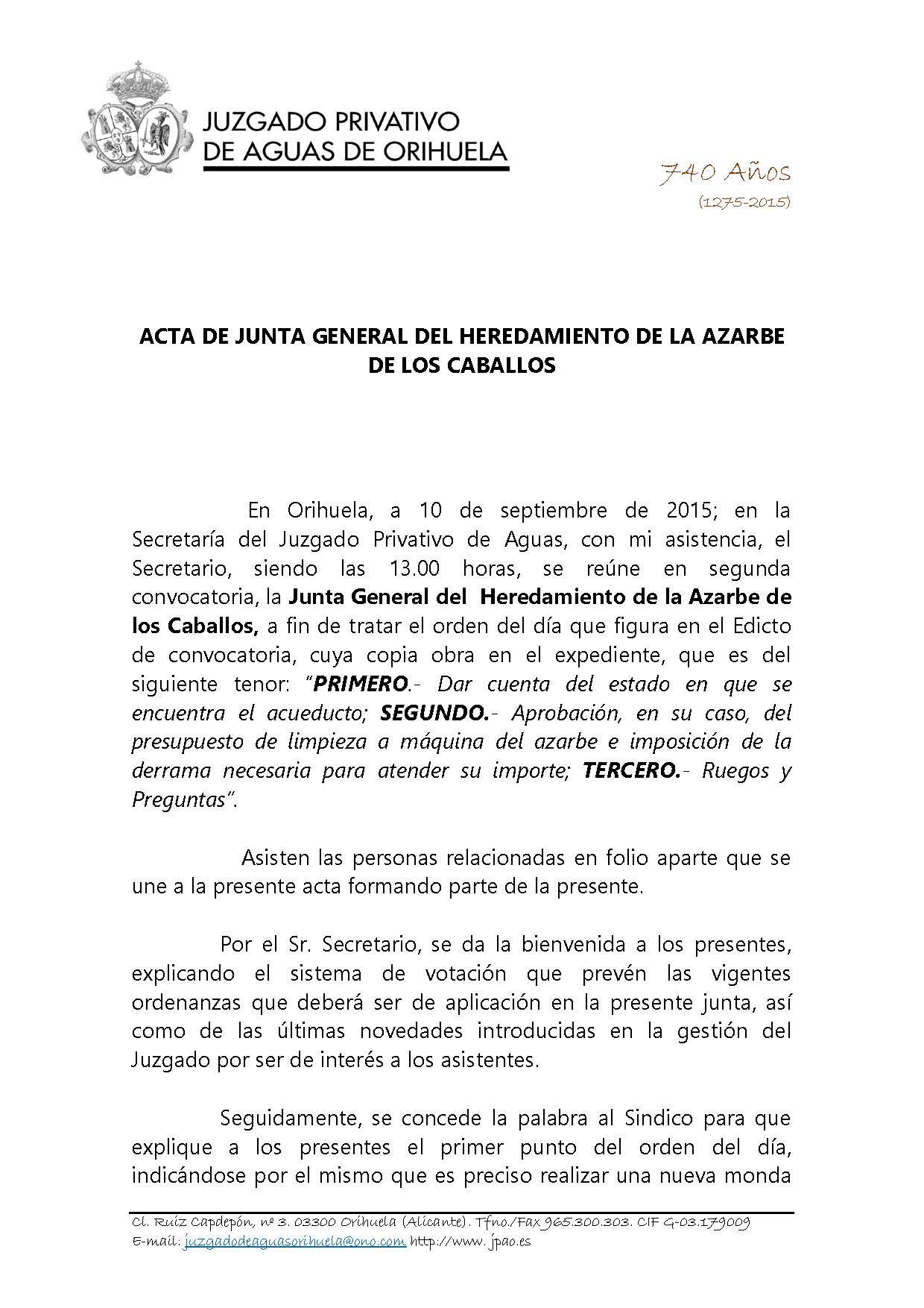 132 2015 AZARBE DE LOS CABALLOS. ACTA JUNTA GENERAL 10092015_Página_1