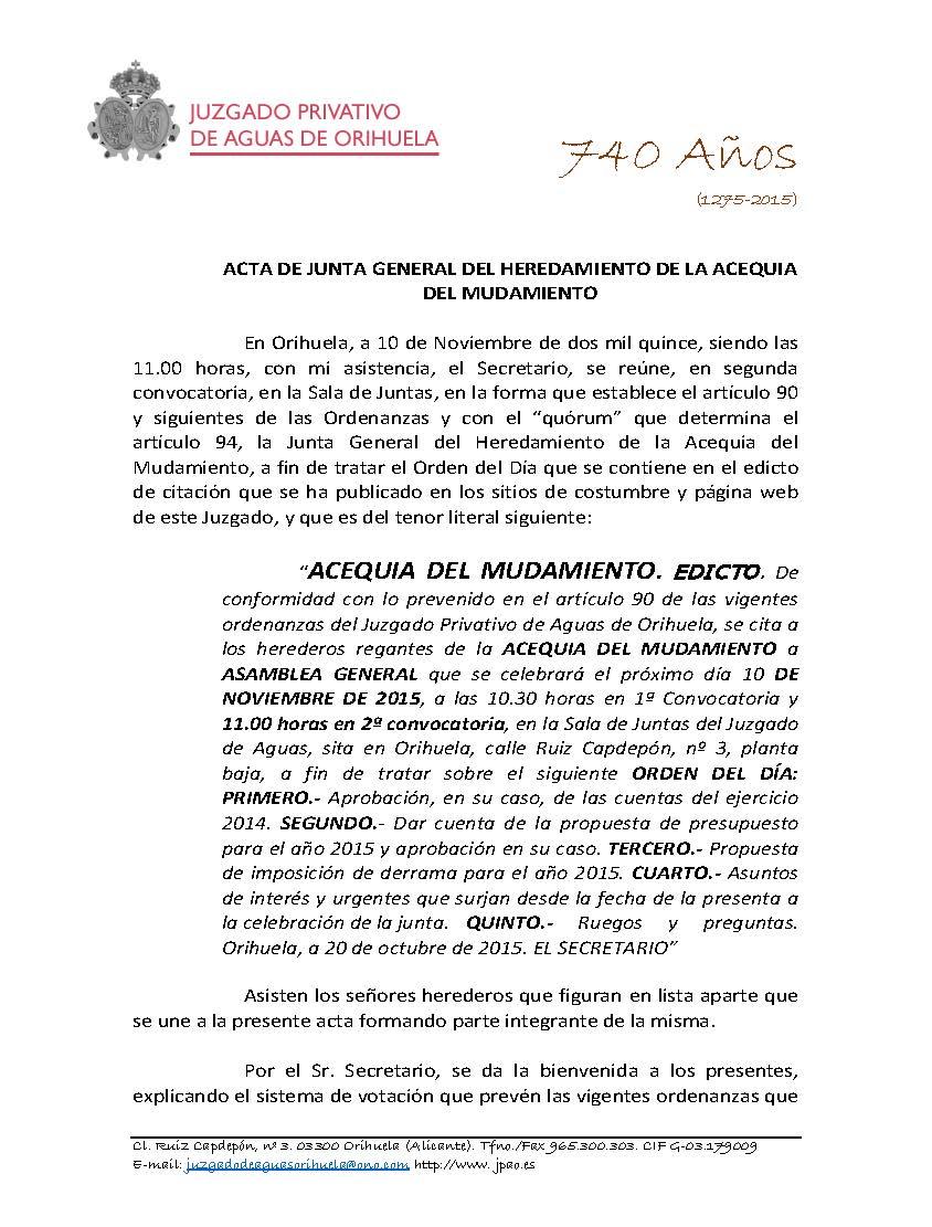 174 2015 ACEQUIA DEL MUDAMIENTO. ACTA ASAMBLEA GENERAL DE FECHA 10112015_Página_1